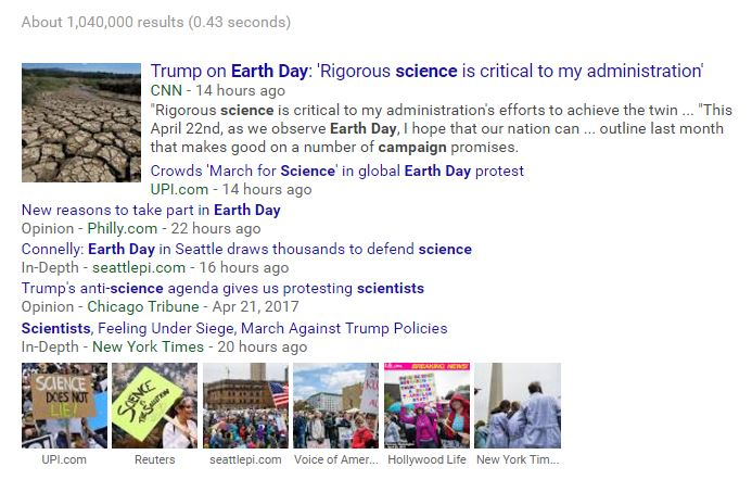Earth Day Science Propaganda