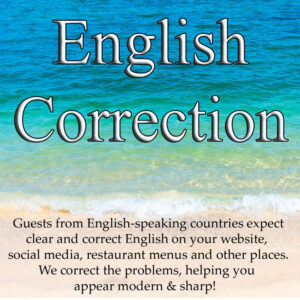 Resort English correction